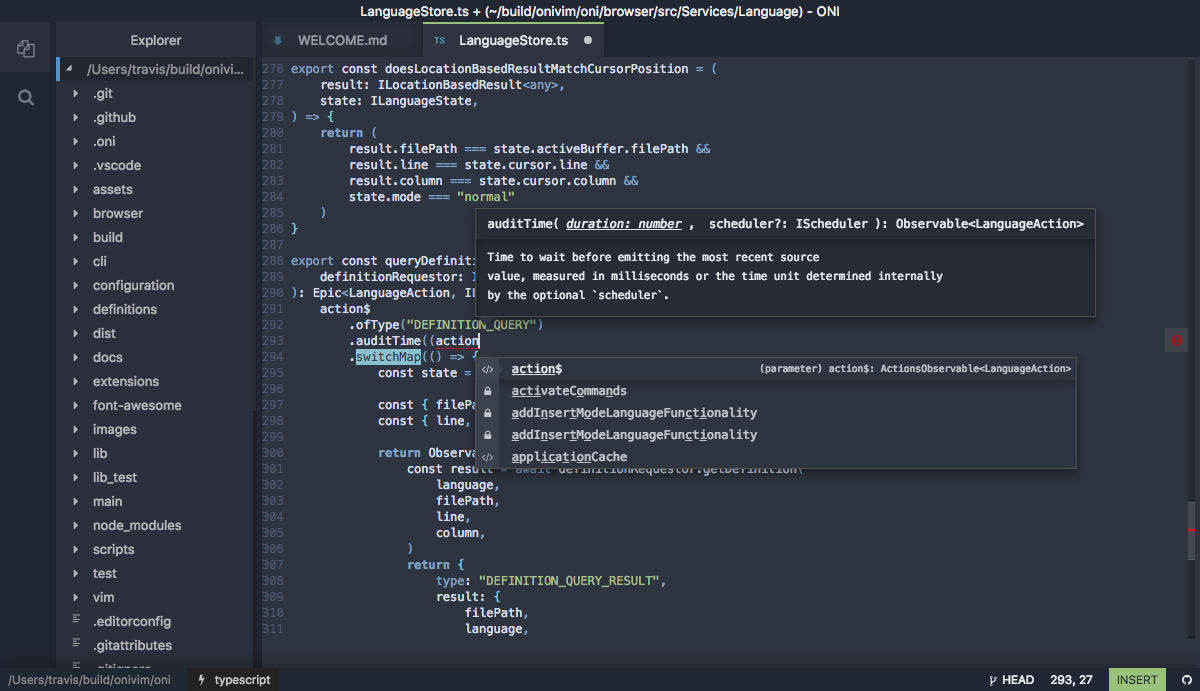 7c20f38ce4f4ff ... raw editing power of Vim, the feature capabilities of Atom/VSCode, and  a powerful and intuitive extensibility model - wrapped up in a beautiful  package.