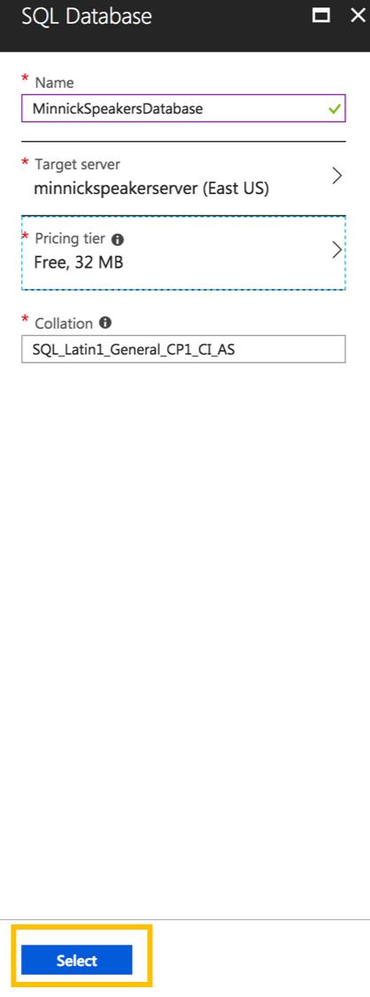 Select SQL Database