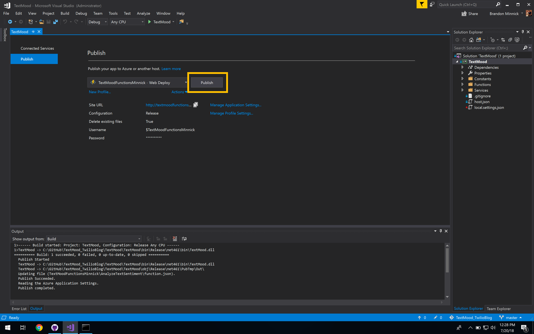 Azure Functions Publish