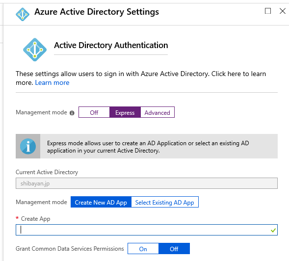 Create New Azure AD App