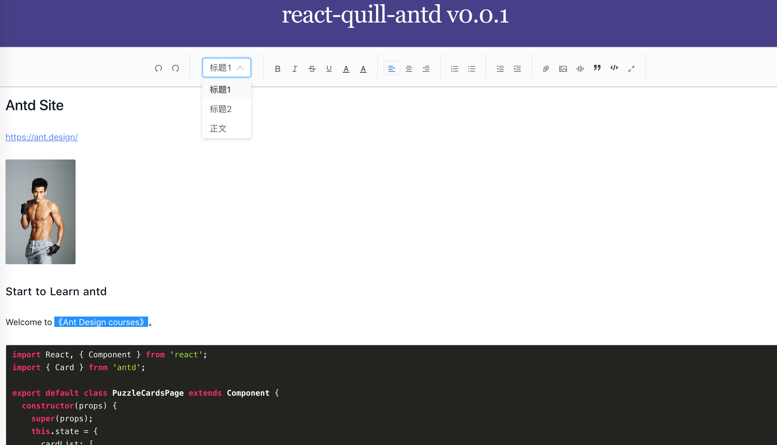 react-quill-antd 1 0 1-beta on npm - Libraries io