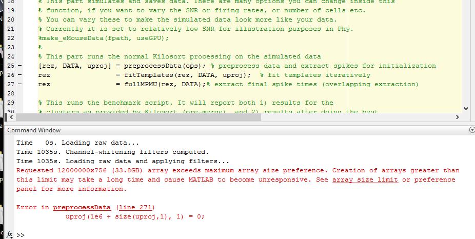 New kind of crash (ram related?) · Issue #106 · cortex-lab/KiloSort