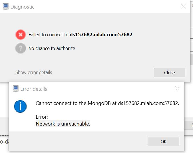 Network is Unreachable Error · Issue #1390 · Studio3T/robomongo · GitHub