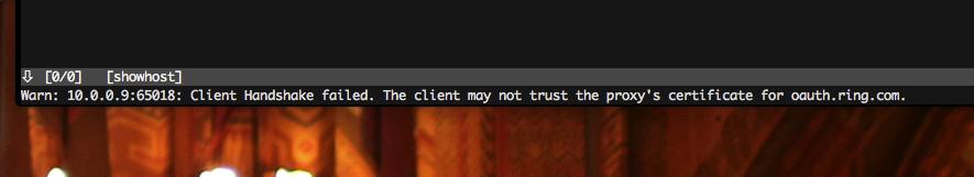 Is intercepting ring's https via mitmproxy in transparent