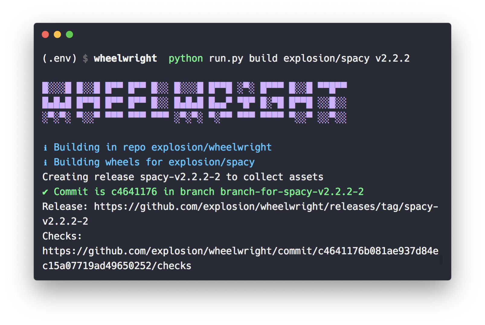GitHub - explosion/wheelwright: 🎡 Automated build repo for