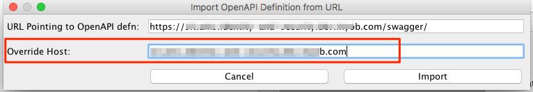 Zap2Docker API scan - how to pass override Host parameter (similar
