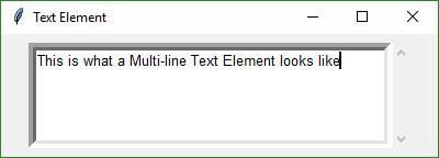 multiline text