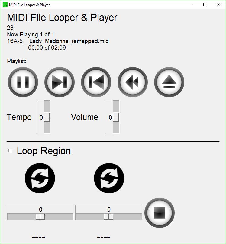 midi player interface