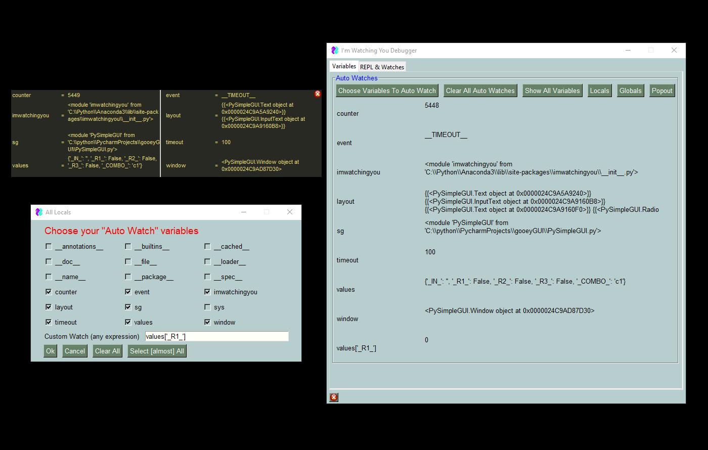 Screen shots · Issue #1 · PySimpleGUI/PySimpleGUI · GitHub