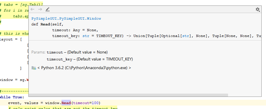 PySimpleGUI-tk] Intermittent / inconsistent results running