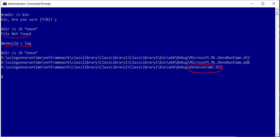 Onnxruntime dll not copied to build output directory when