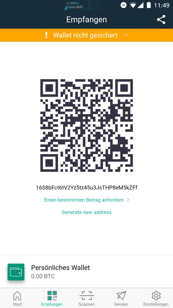 how to generate qr code from public cryptocurrency address