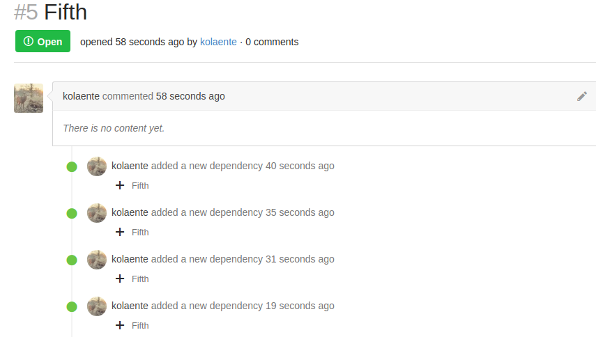 Comments after adding a new dependency