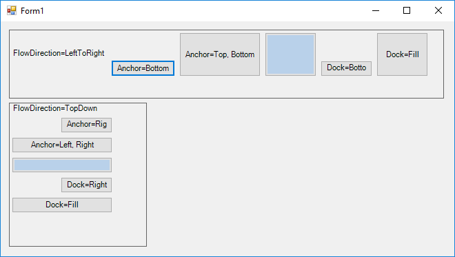 Anchored WinForms controls inside FlowLayoutPanel are not