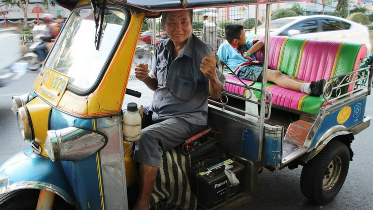 Prepare to haggle for the best price and hold on tight in the seat beltless tuk tuk!