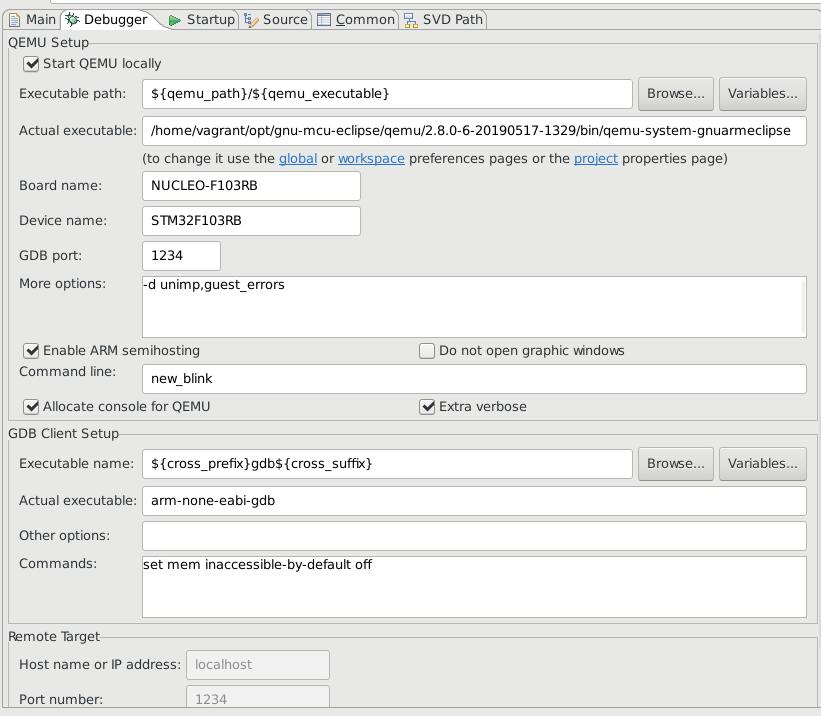 Blinky on QEMU with STM32F1 fails