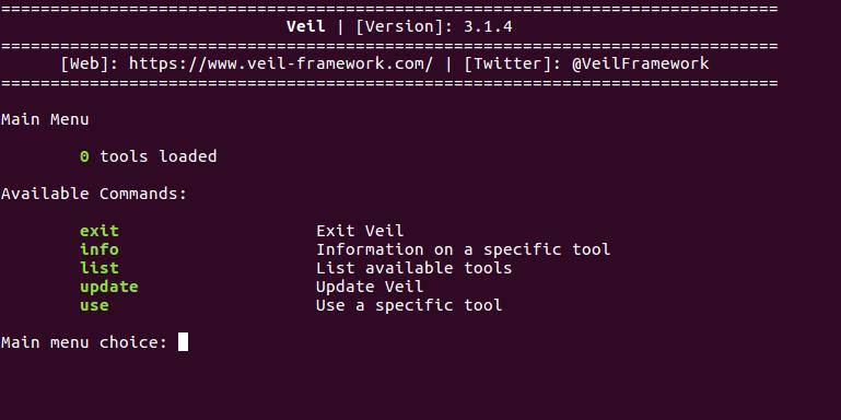 modules/av-bypass/veil-framework sees no tools available