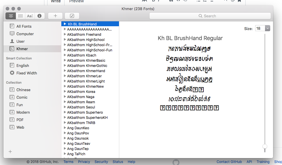 Khmer Font