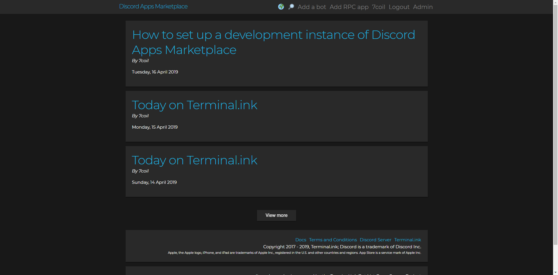 Today on Terminal.ink... and more!
