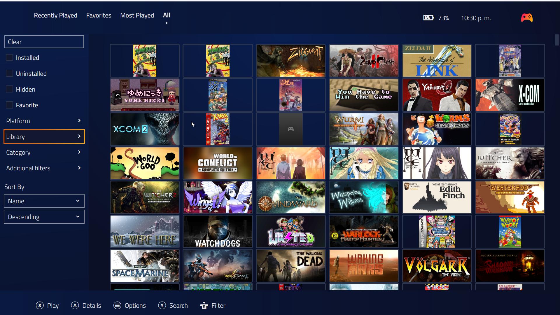 Fullscreen mode: Views use descending sorting option by