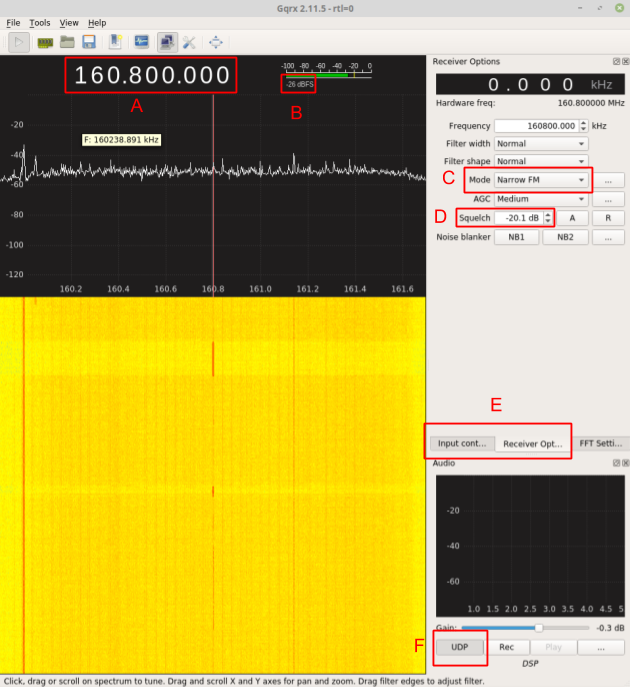 Setting up GQRX to listen to railroad frequencies