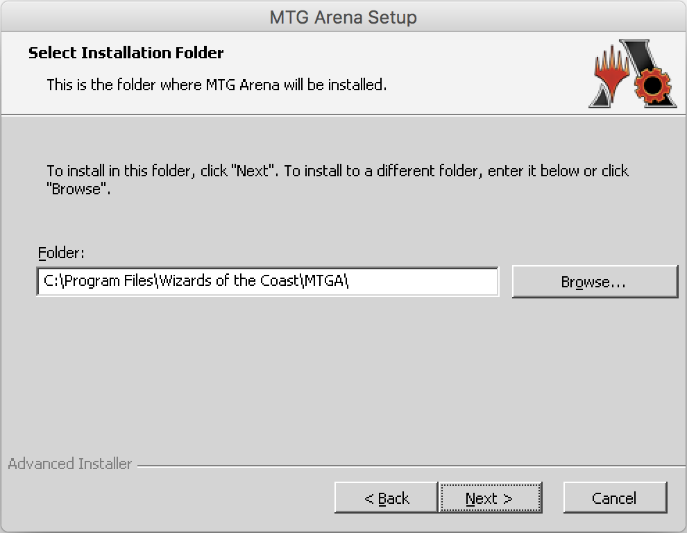 Instructions on how to install Magic the Gathering Arena on