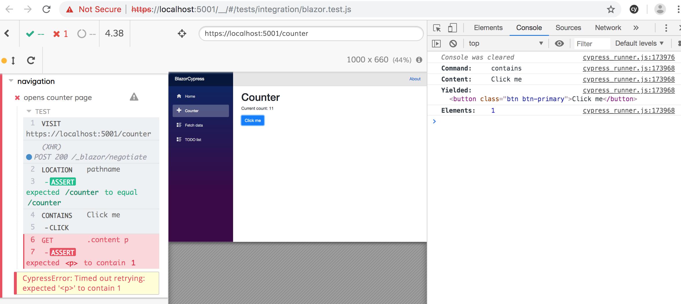 click event not propagated on ASP NET Core Blazor app button