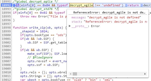 decrypt_agile is undefined · Issue #1036 · SheetJS/js-xlsx