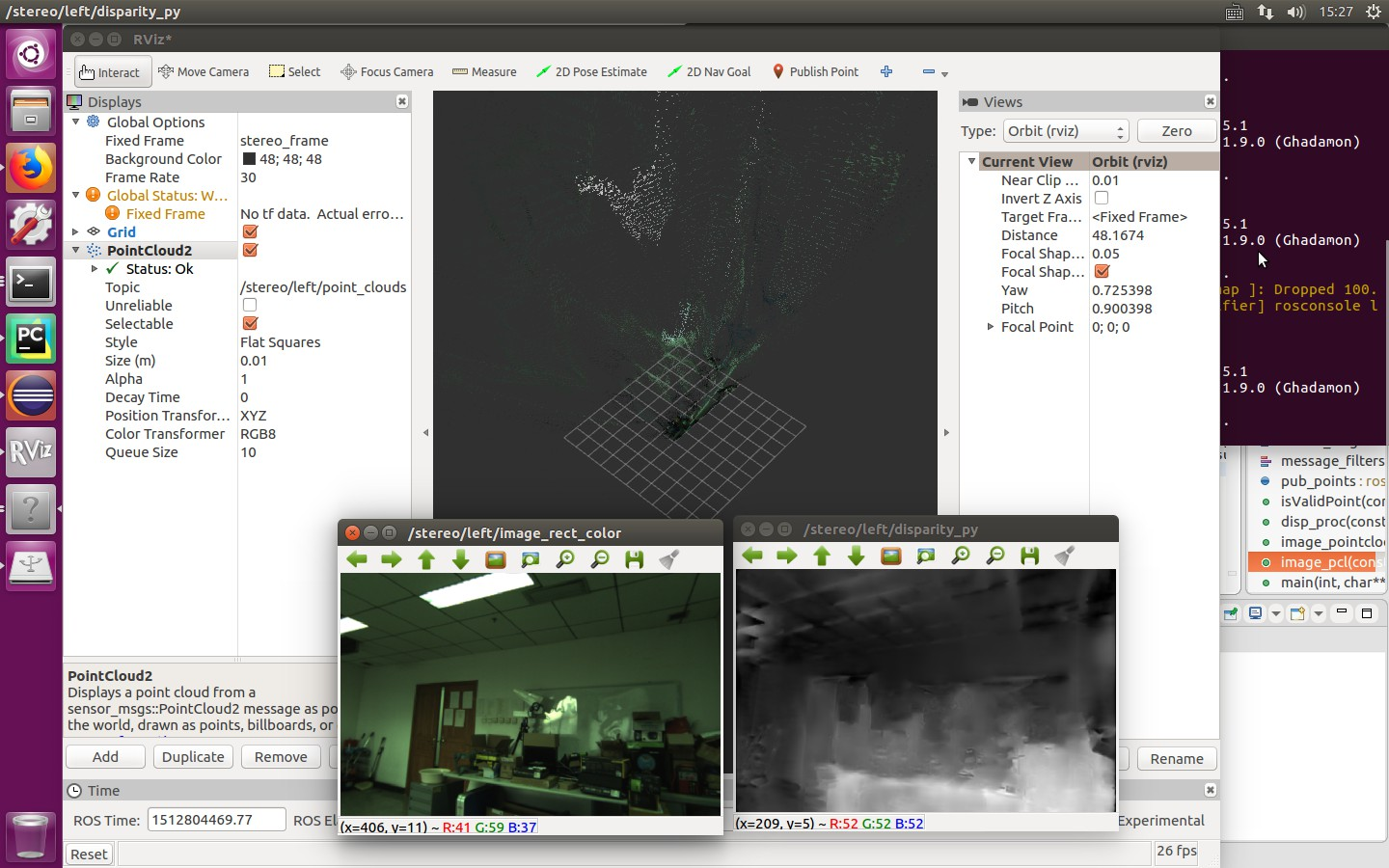stereo camera disparity map looks well,but point cloud looks strange