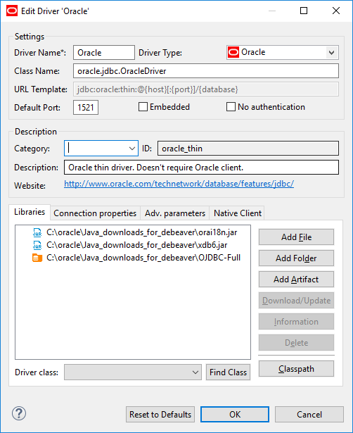 Can't create driver instance for Oracle · Issue #4798