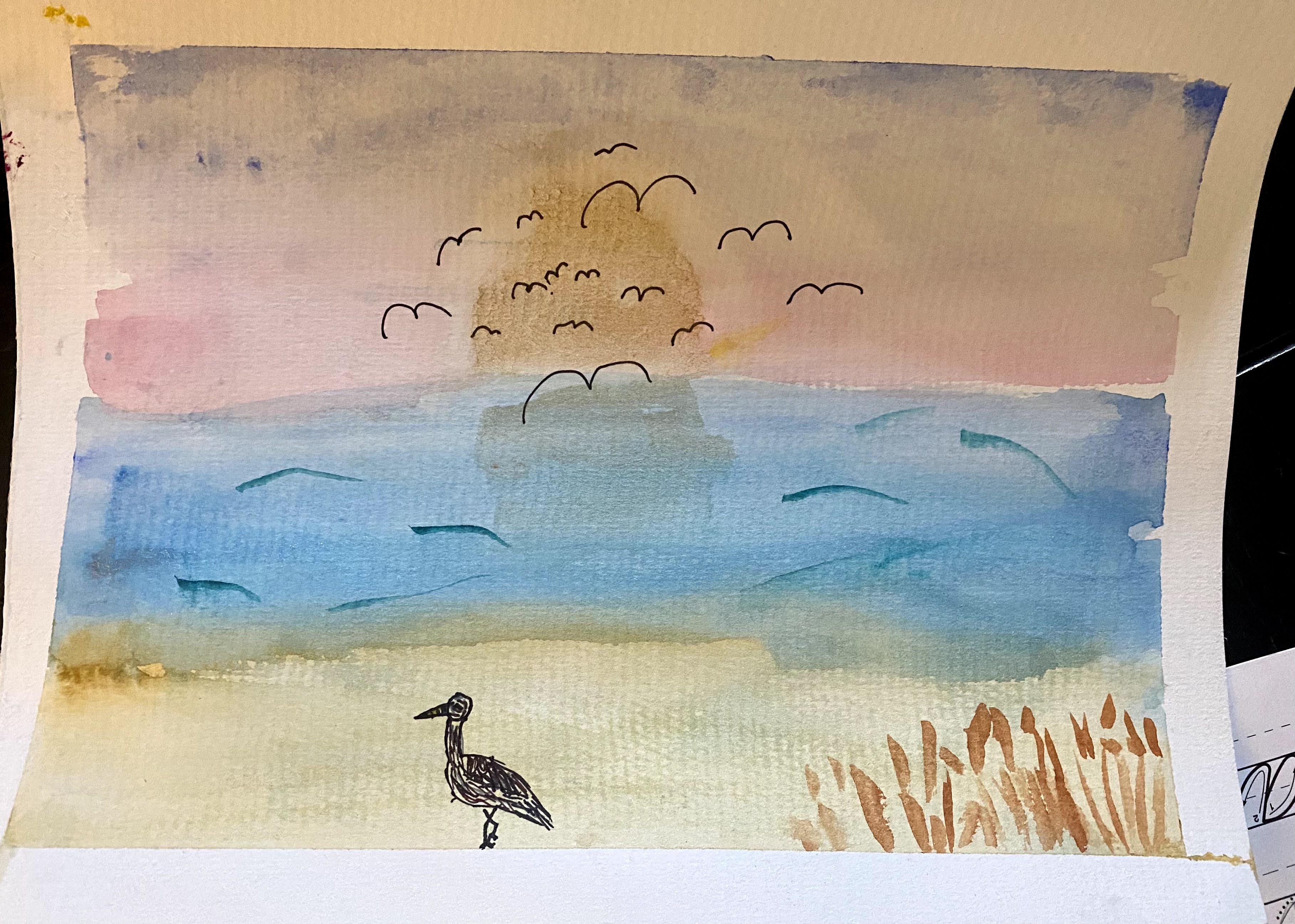 Lo's Cumberland Island painting