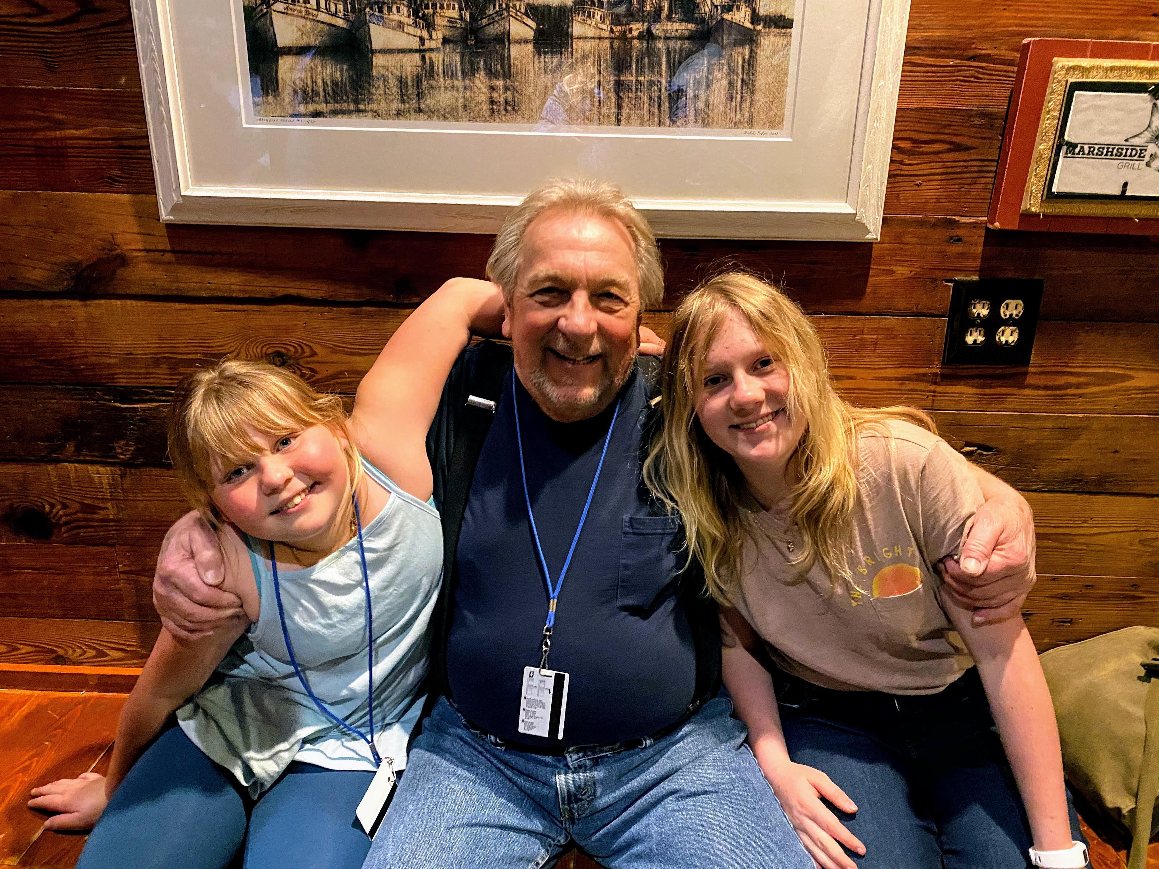 Grampsy with Girls sitting