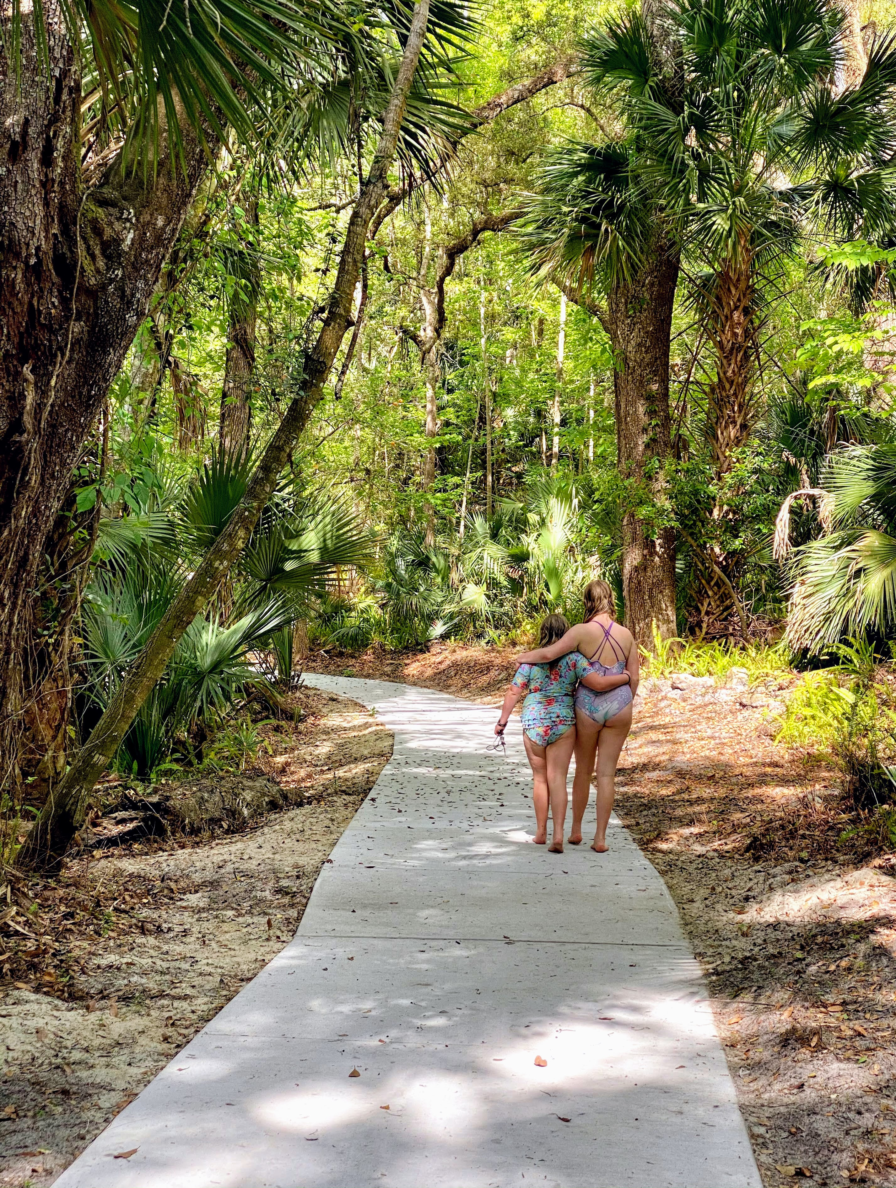 walking at the natural spring