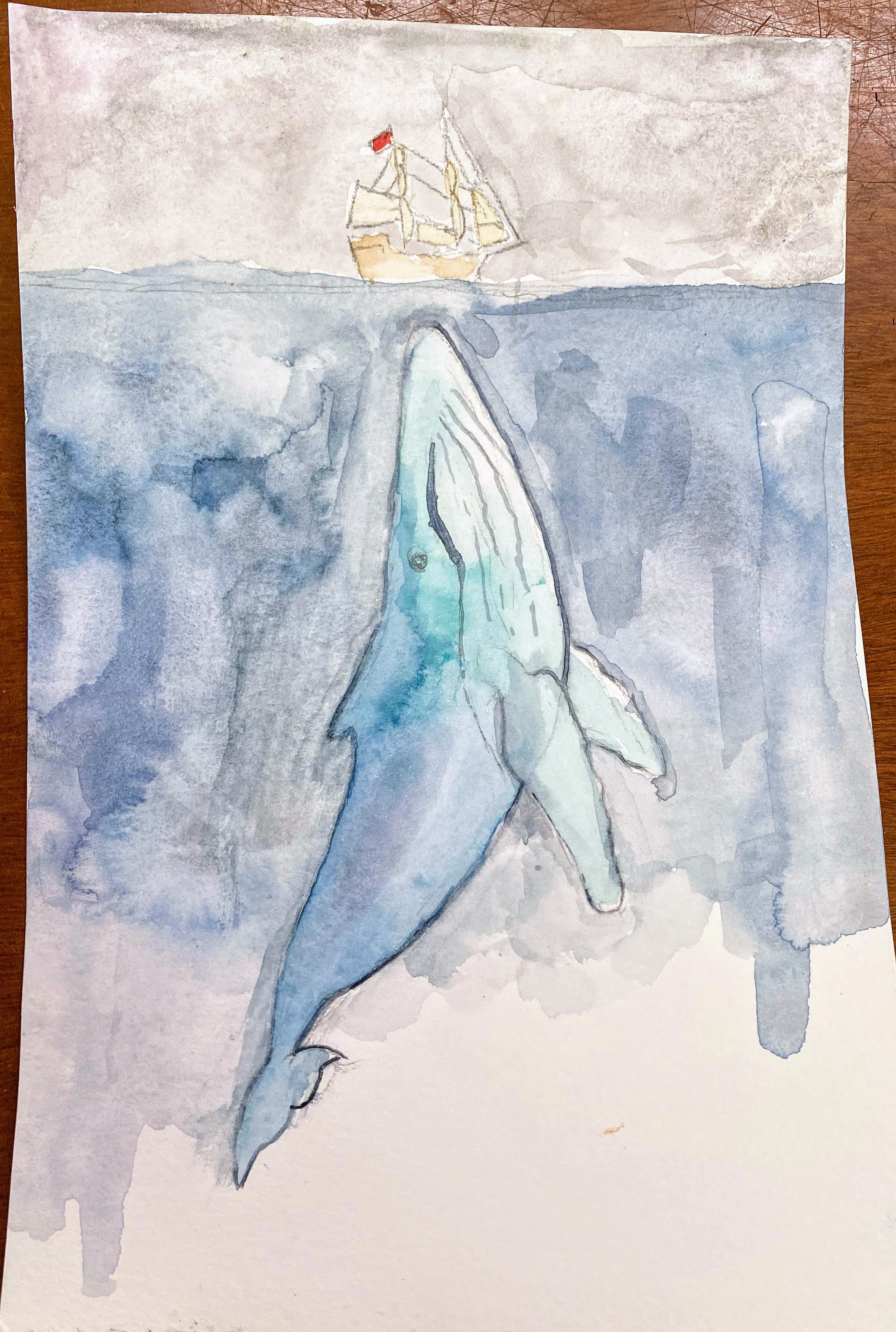 Whale Boat painting Audrey