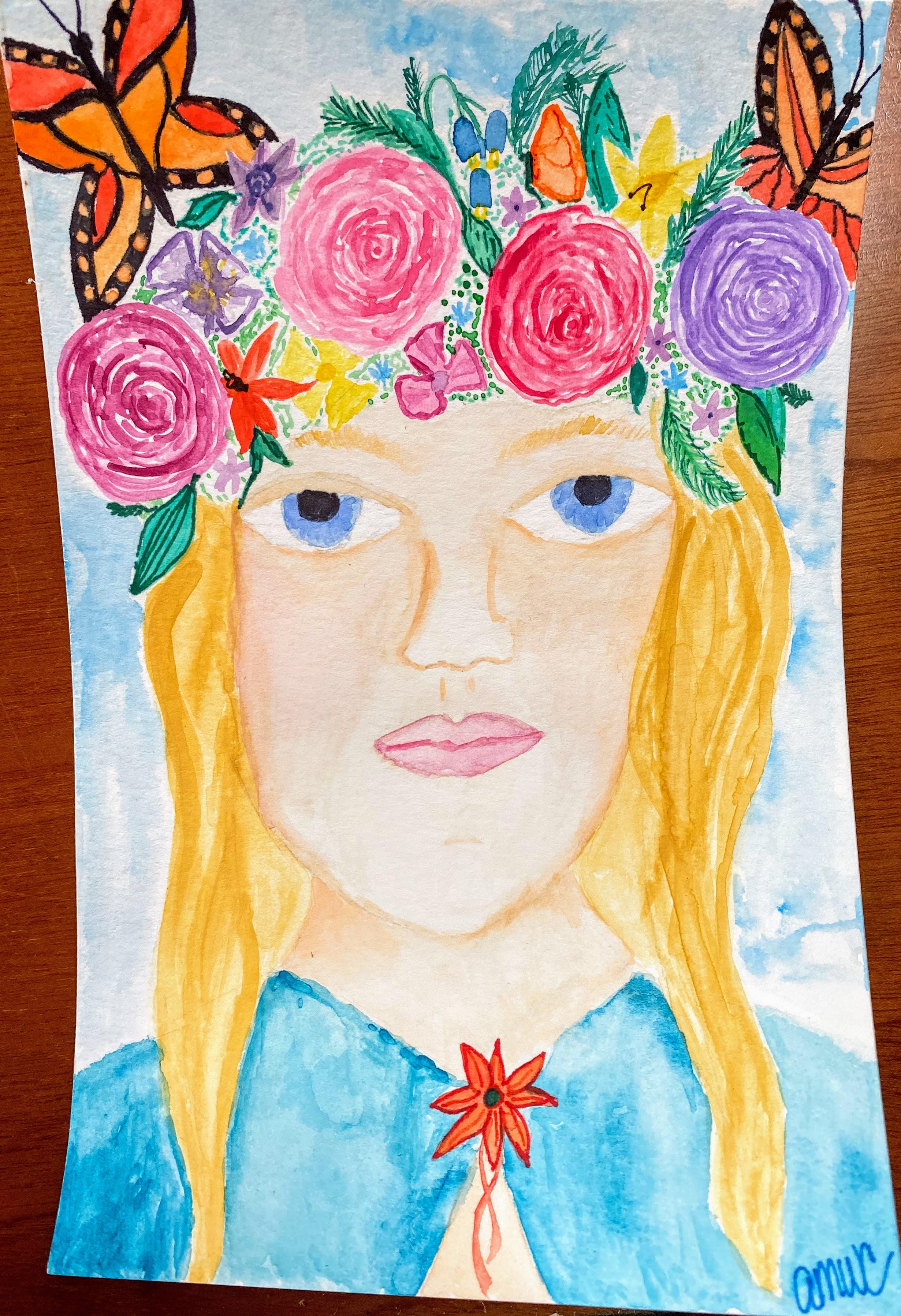 Portrait of Audrey by April