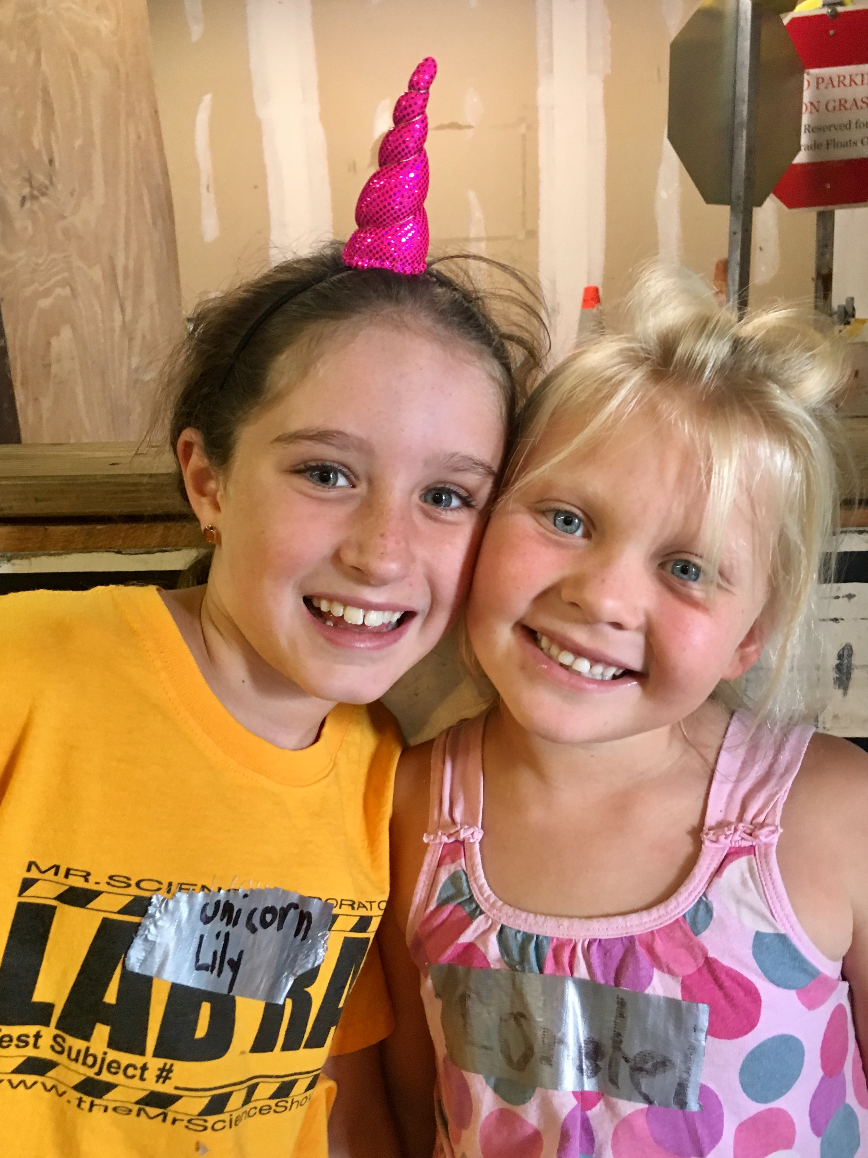 Lily and Lorelei at Science Camp