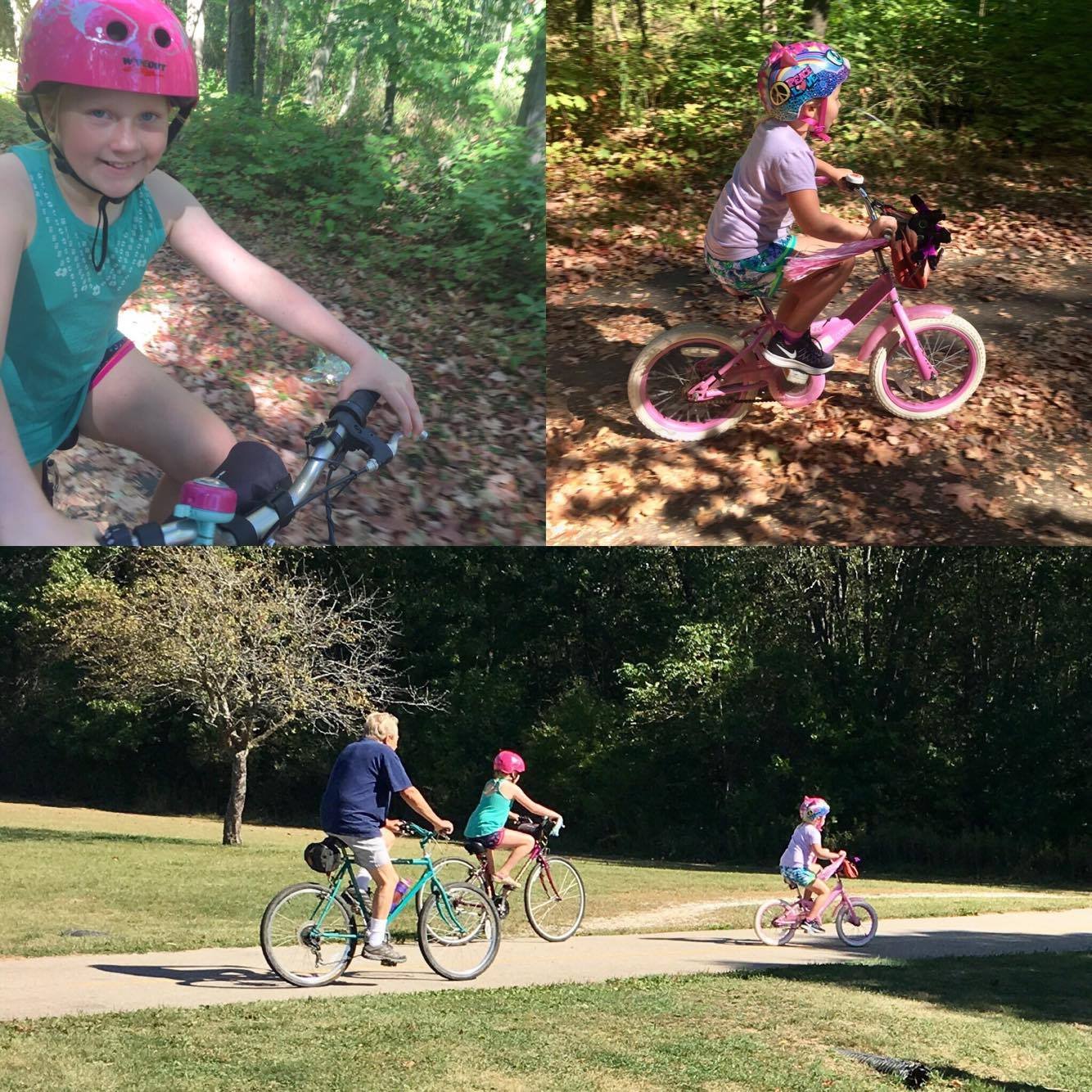 biking collage