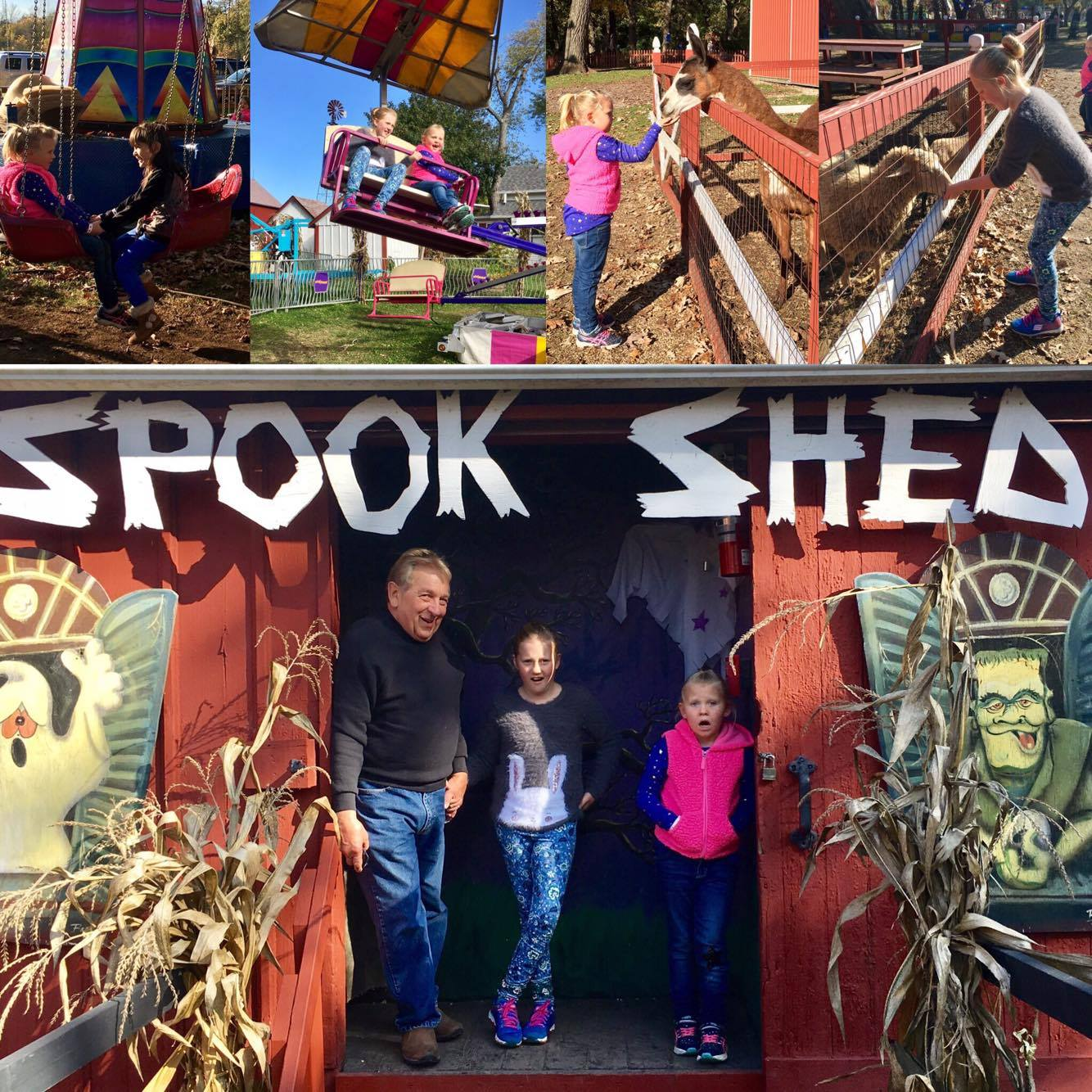spook shed collage
