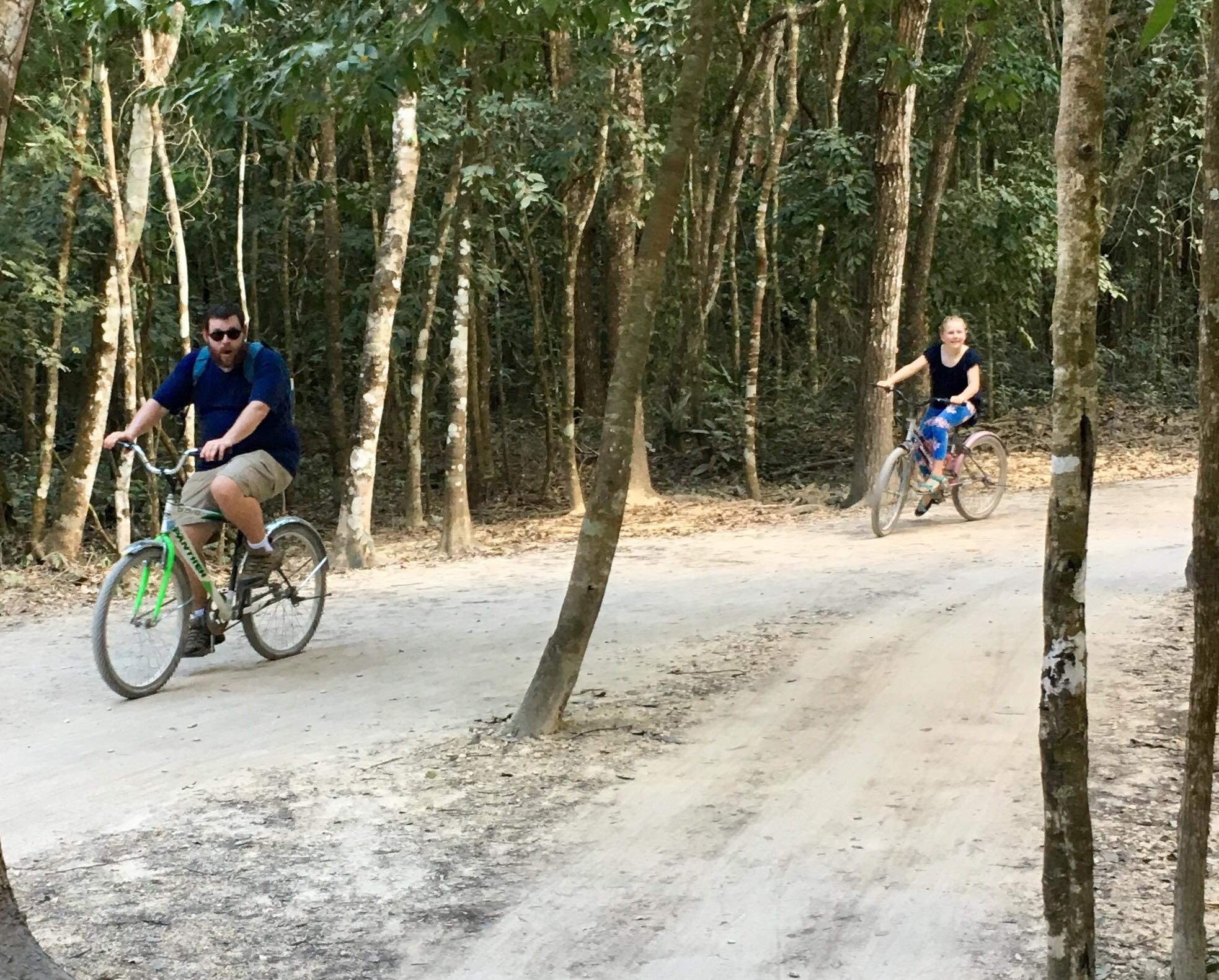 biking at Coba