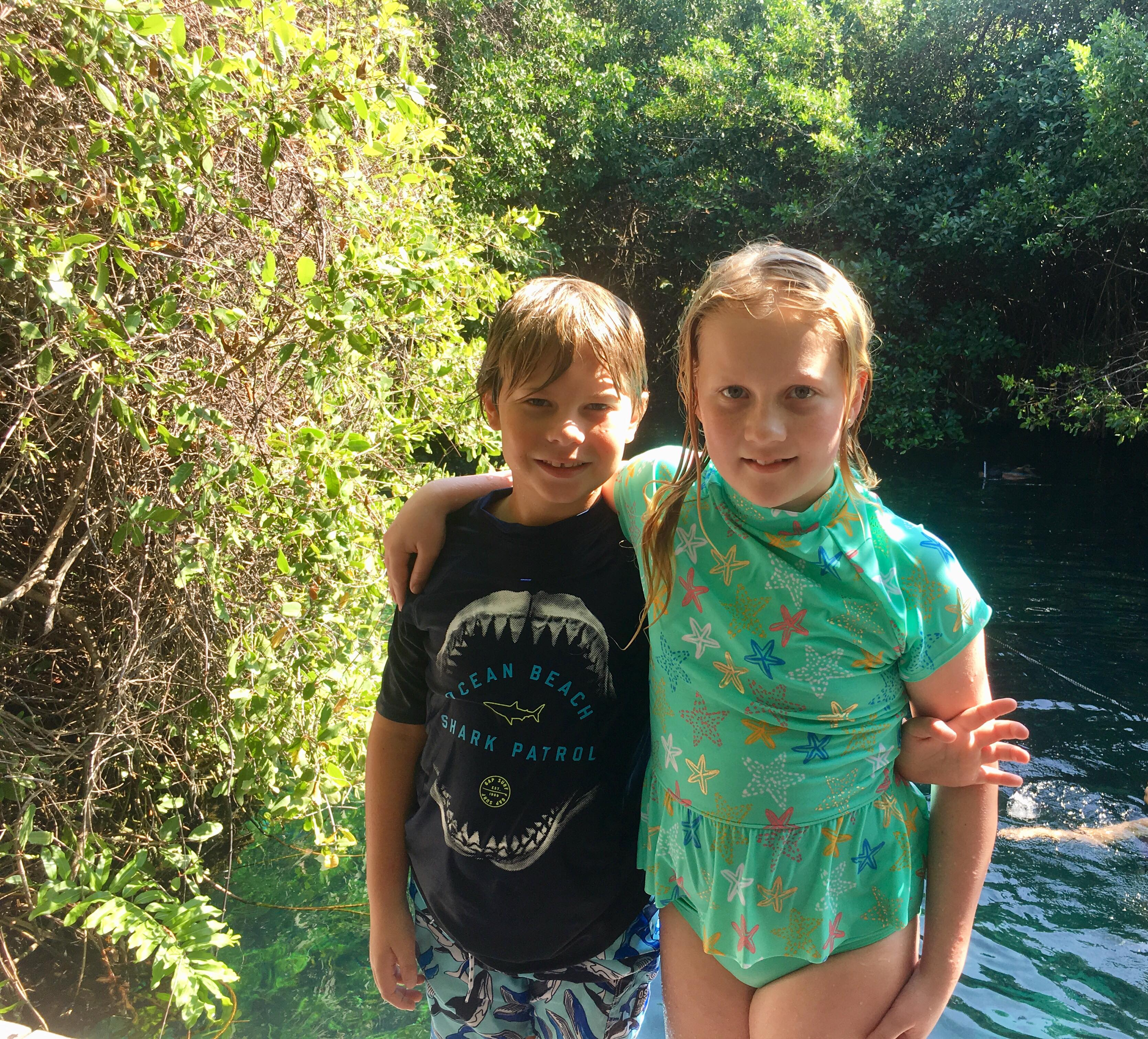 Audrey and Aiden Cenote