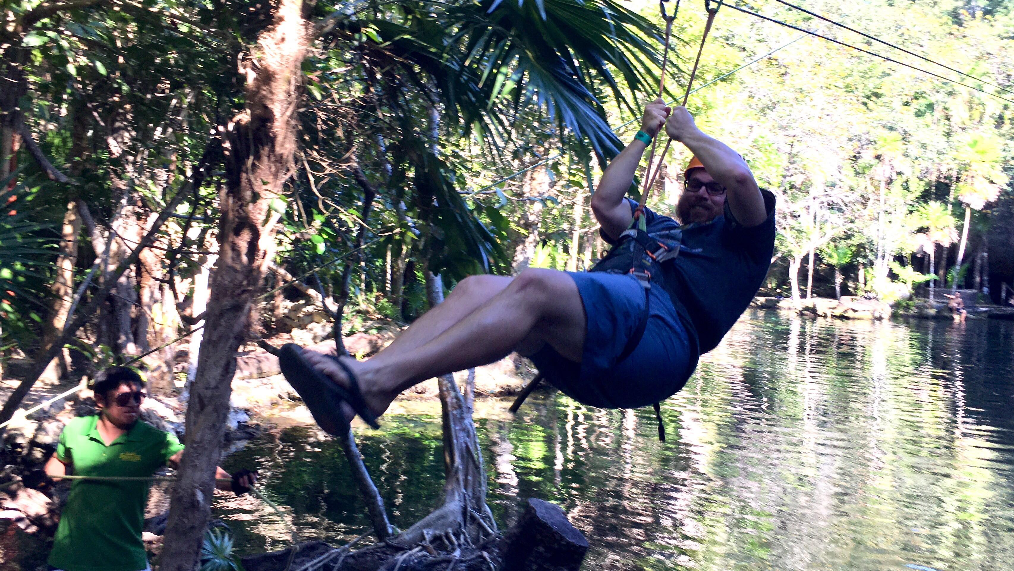 Jacob ziplining