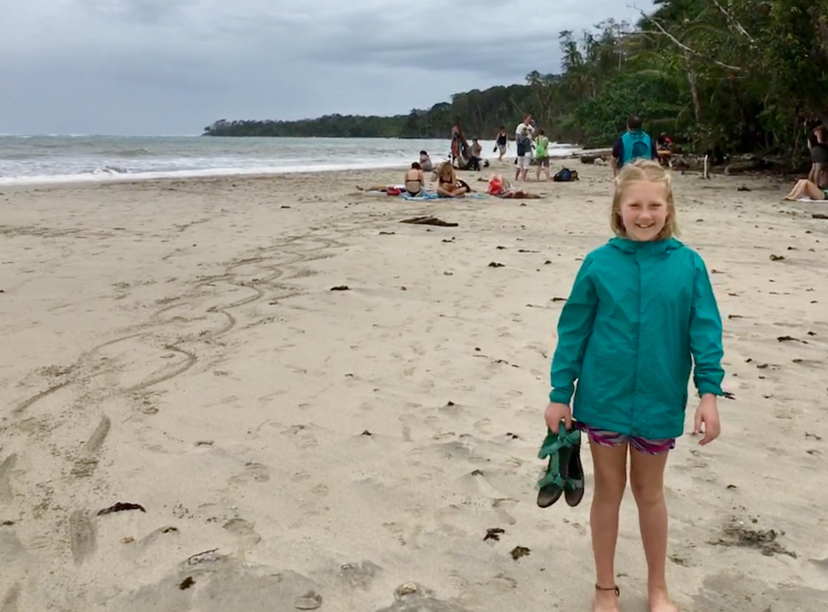 Audrey on the beach