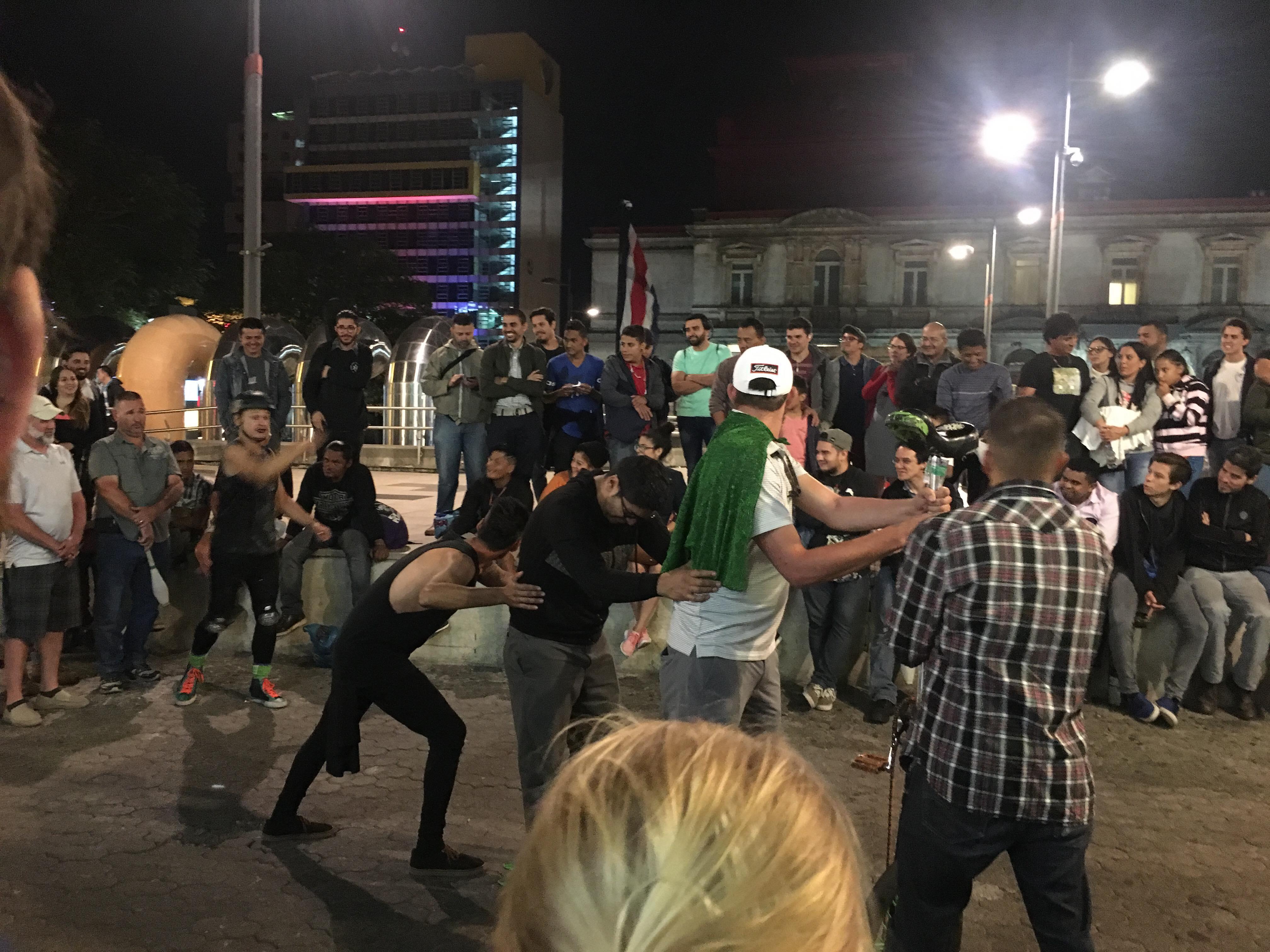 street preformer in SJ
