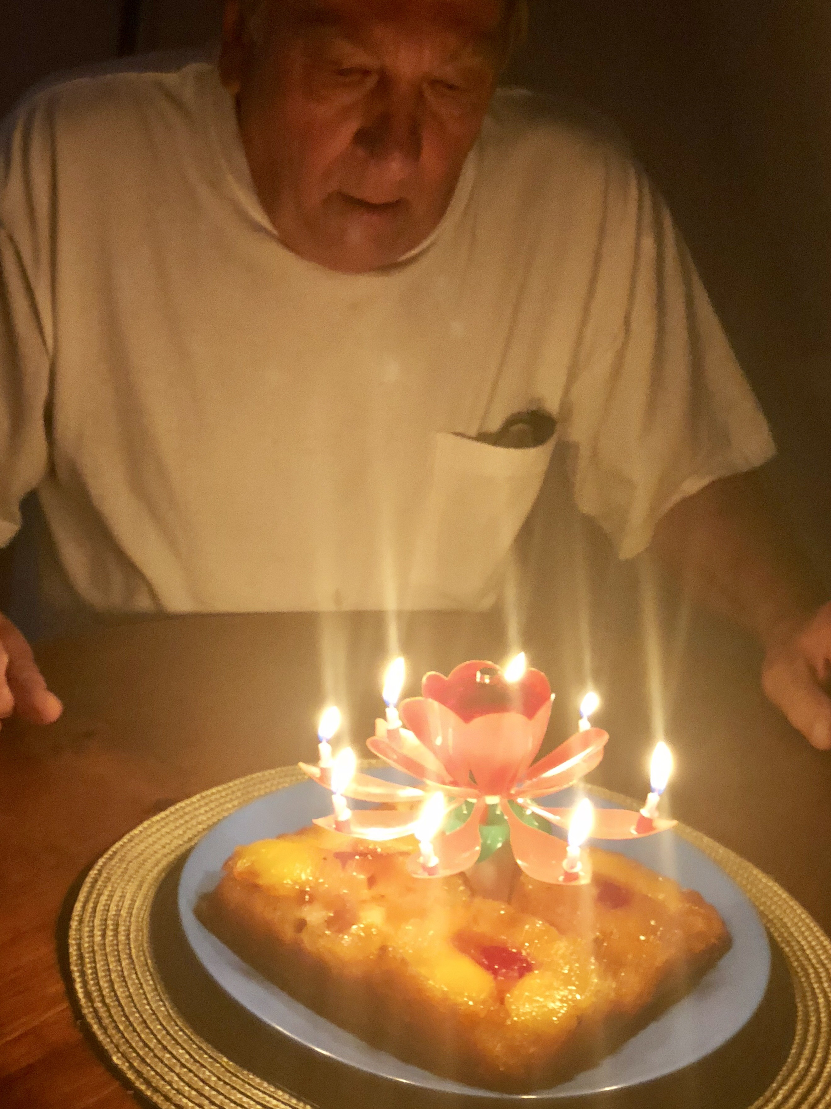 Grampsy with his cake