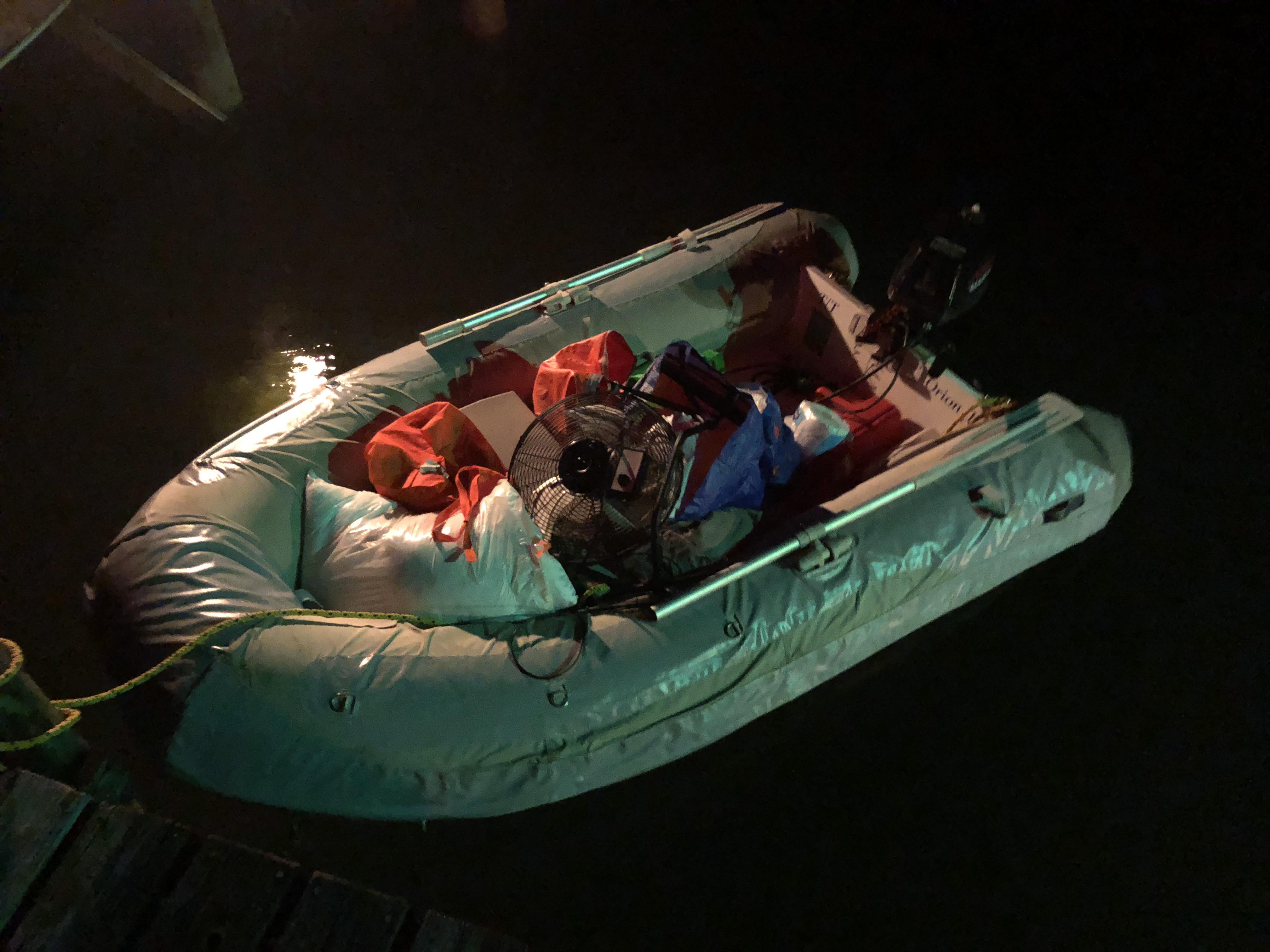 dinghy load