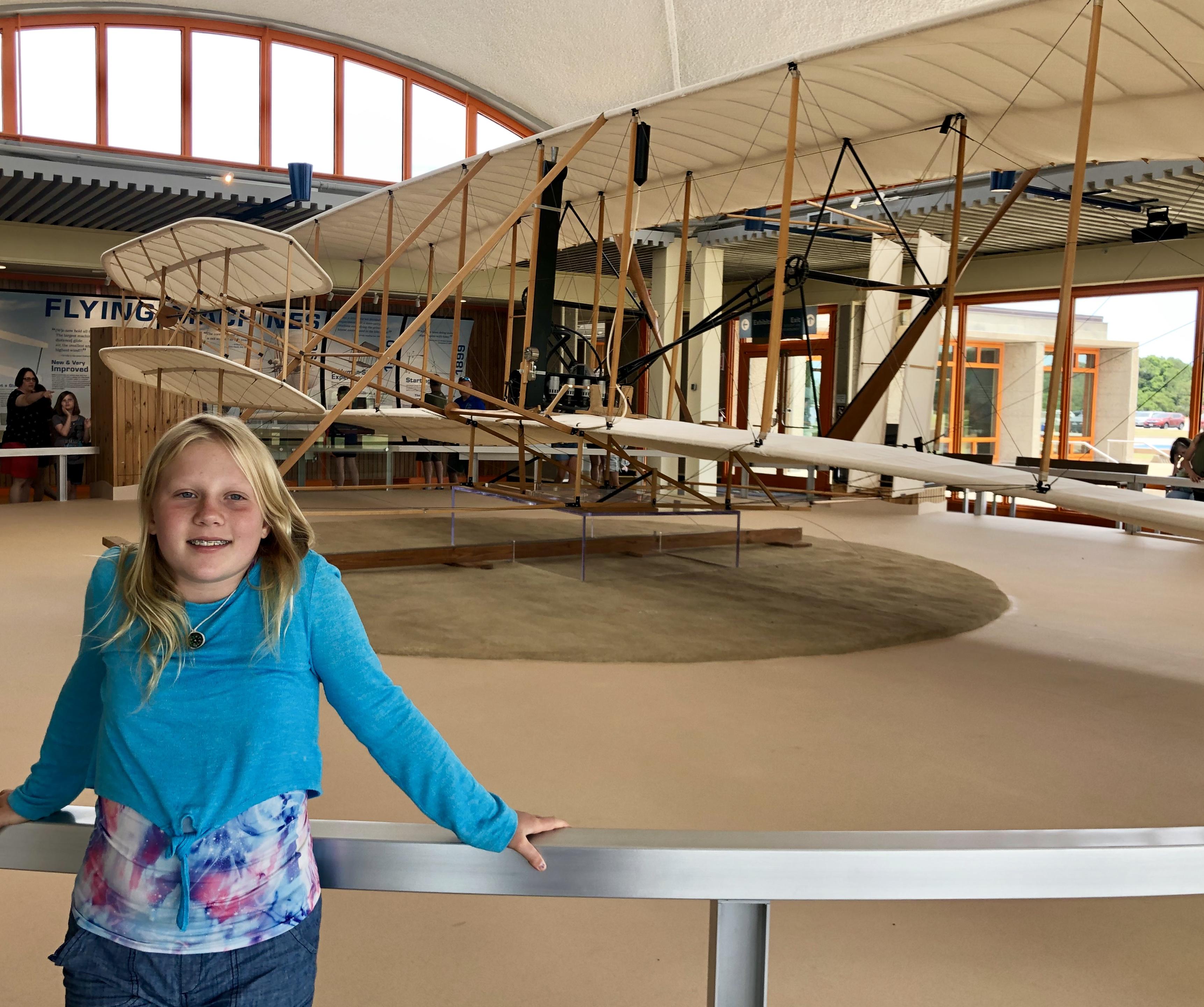 Audrey at Wright Bros