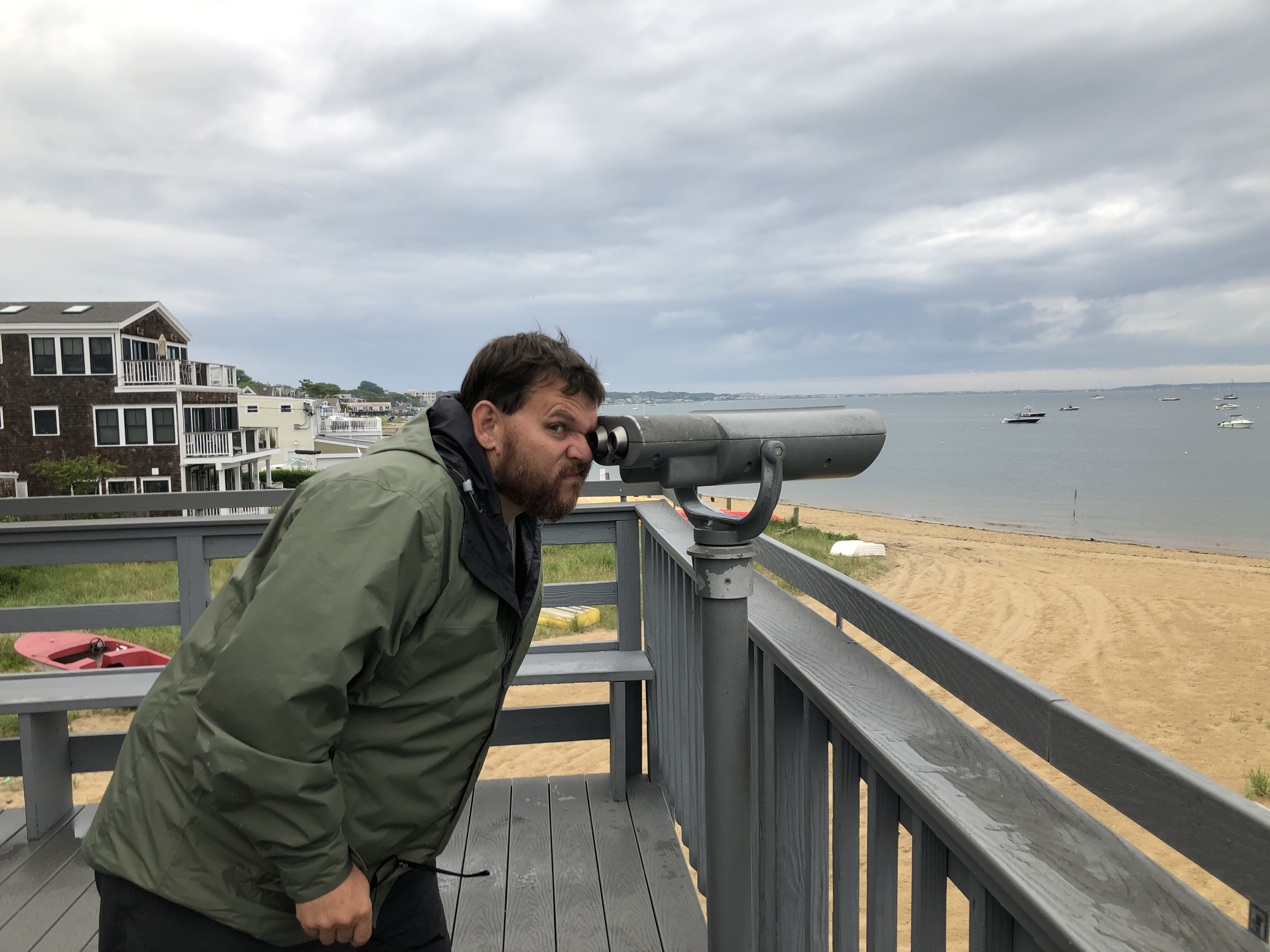 Jacob looking out of provincetown