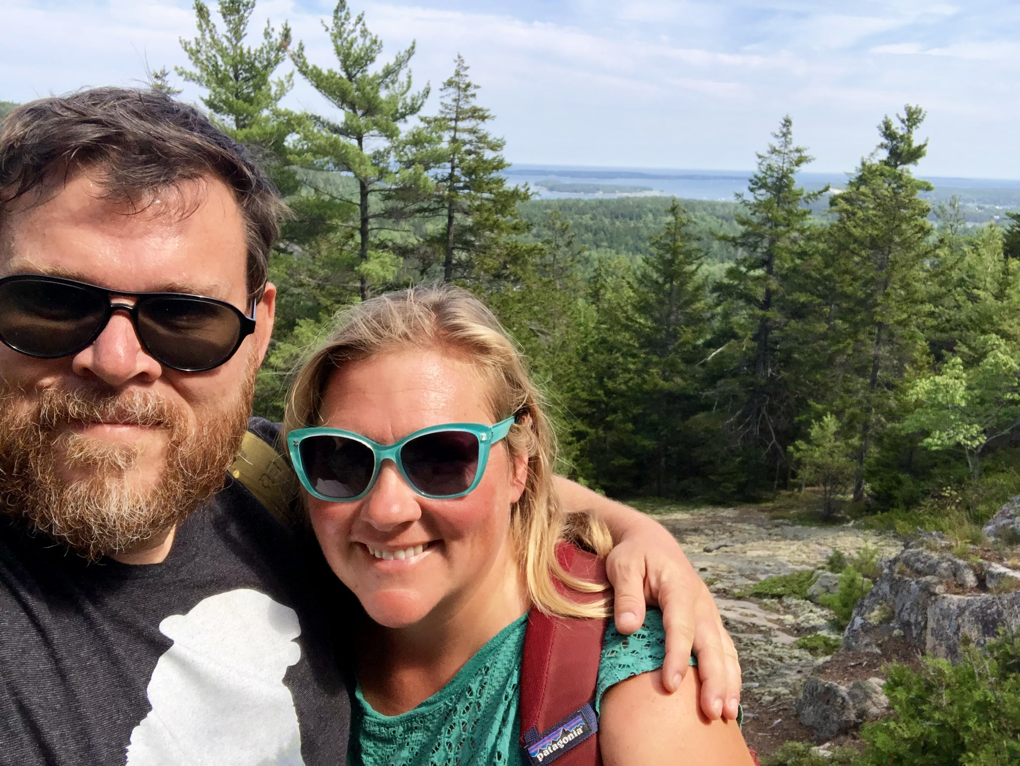 Jacob and I at the top of Canadian Cliffs