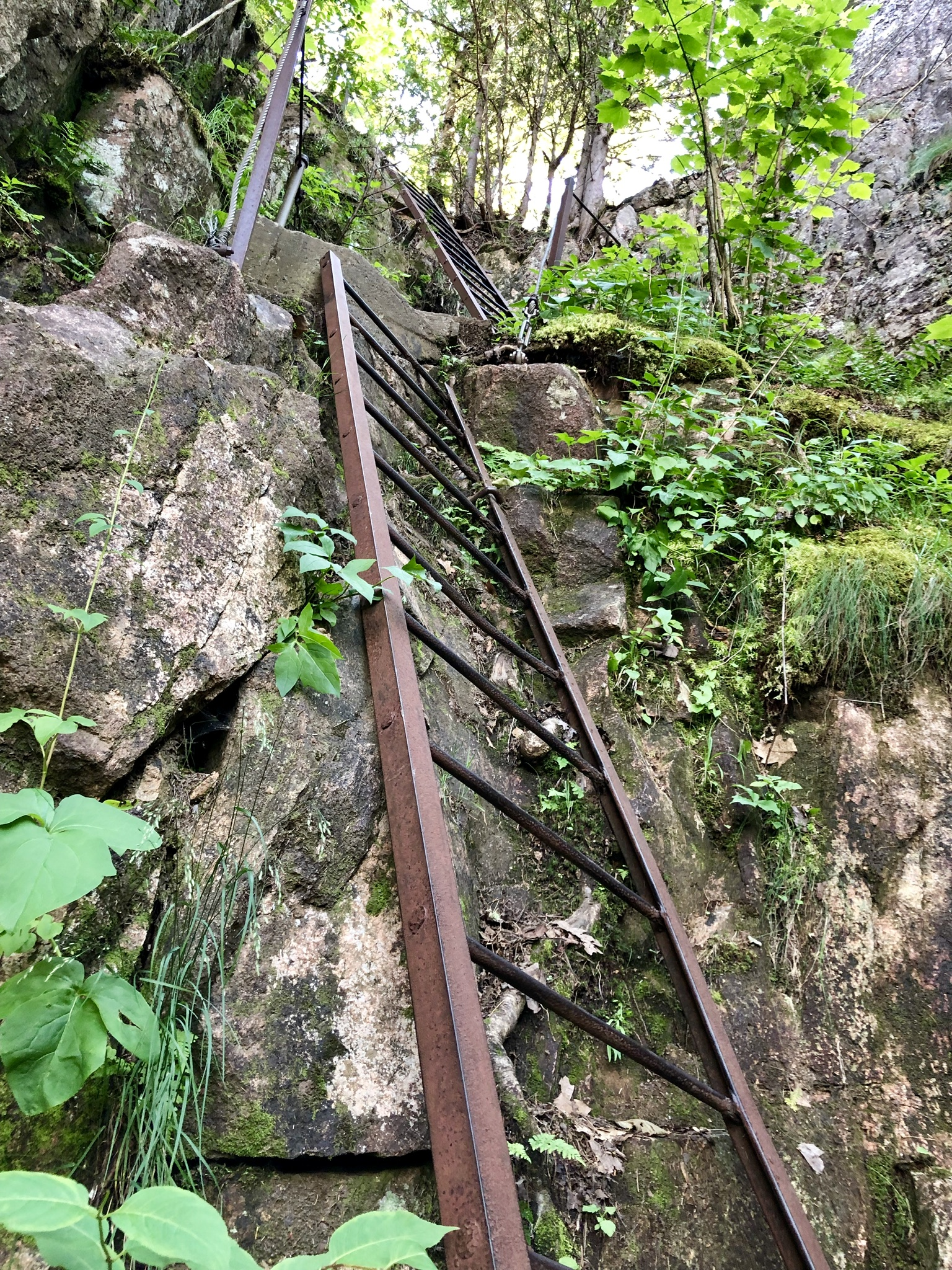 Ladders up Canadian Cliffs