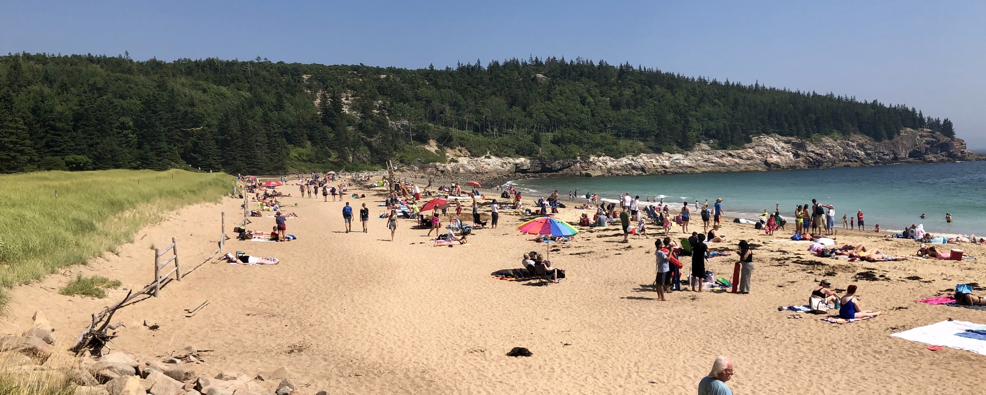 sand beach crowd